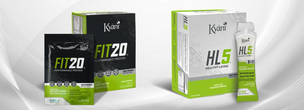 A HL5 és a FIT20 a Kyäni legújabb fehérje és kollagén alapú termékei